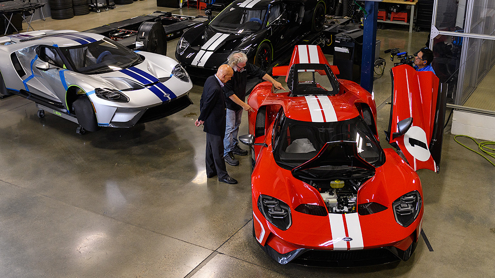 Imsas Scott Atherton Gets Inside Look At Multimatic Ford Gt Facility Imsa Tv